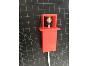 Filament guide for passing through a material (such as wood)