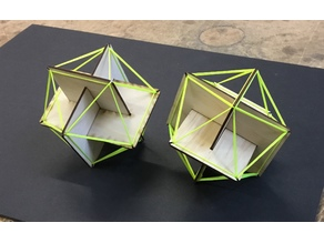 Icosahedron with string