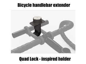 Quad Lock - inspired bicycle smartphone mount