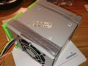 ATX power supply Velcro mounting (underdesk)