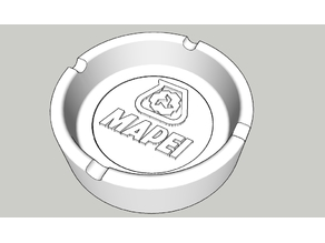Ashtray v2 with changeable logo for silicone molding