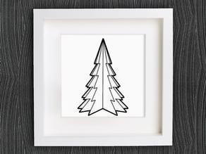 Customizable Origami Christmas Tree