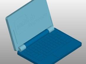 Tiny notebook / laptop key ring