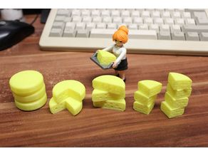cheese set [playfab 183004 - playmobil compatible]