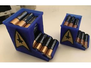 AA AAA Extendable Battery Dispenser - Lightened with lid and full plates! - more sci-fi :)