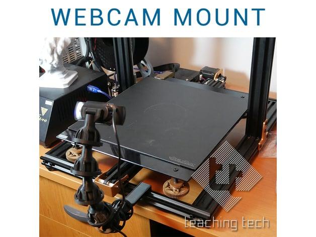 Flexible webcam mount for Octolapse by TeachingTech