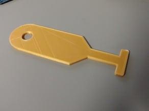 T-Slot Cleaner/Scraper for CNC/Mill