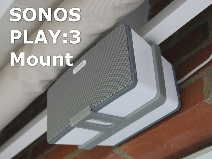 Sonos Play 3 Awning Mounting Bracket By Blincoln Thingiverse