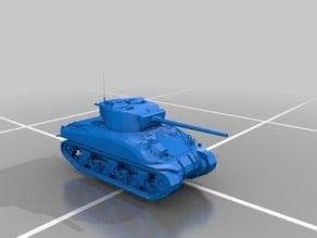 M4 sherman tank x2 cannons model 2018