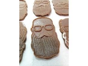 Hipster gingerbeard cookie cuter ;)
