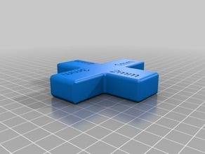 1-2-3-4mm Filet gauge block.
