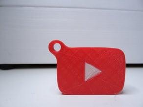 YouTube logo keychain
