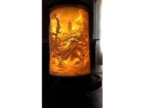 Cylindrical Lithophane Lantern