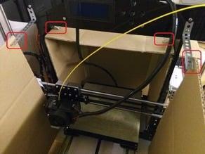 Cardboard casing for Hesine Prusa i3 3D Printer enclosure