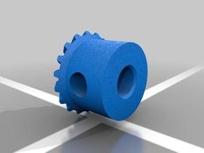 Plastic Gear for 90 Degree Motion Transfer