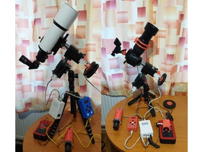 Small Travel 3D printed OnStep EQ mount for telescope