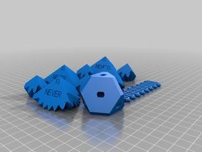 My Customized Three Cube Gears