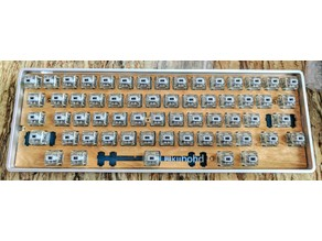 HHKB Style 60% Keyboard Plate for Cherry MX and Alps, Costar and Cherry Stab compatible