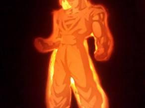 Super Sayan Goku Lithophane