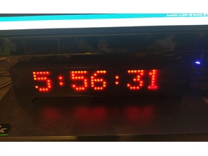 ESP8266 LED Clock 7 Module Version