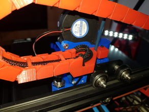 CR-10 X-Axis cable chain mount for Petsfang Duct