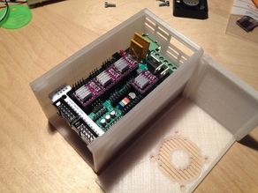 Sliding Lid RAMPS 1.4 box - Longer to fit LCD Breakout
