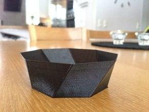 Spiral 8 edges bowl
