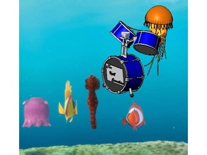 Jelly Playing Drums