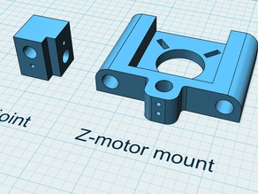 Remix of ReprapPro z-motor mount