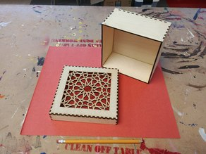 Islamic Art Laser Cut Box w/Slip On Lid