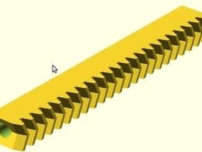 Printable rack: Modular, parametric ,for rackπnion system for Reprap