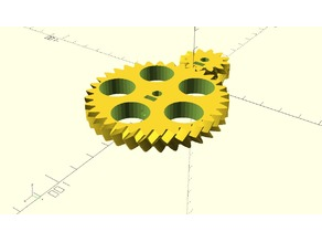 Parametric Slim Herringbone Gear Set With Embedded Setscrew And Helix Angle