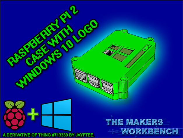 Raspberry Pi 2 Case with Windows 10 Logo by
