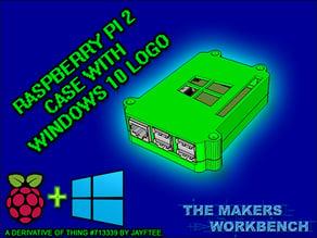Raspberry Pi 2 Case with Windows 10 Logo