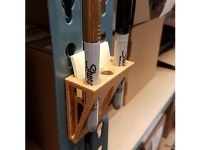 Industrial Teardrop Shelving Pen Holder