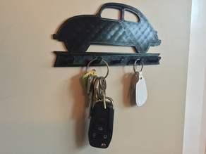 VW Bug Key Rack