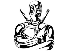 Tribal Deadpool stencil 5