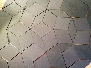 Lasercut Penrose tiles