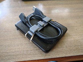 External HDD cable holder (stock settings)