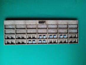 tableau de conversion braille 2 chiffres par colonne : aires (lasercut)