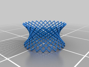 Customizable hyperbolic mesh sculpture