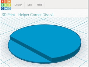 Helper Snap-off Disks - Prevent Corner Warping