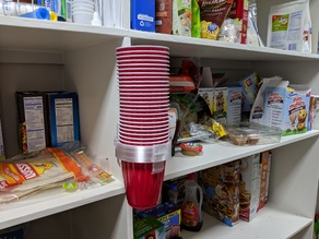 Red Solo Cup dispenser