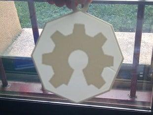 [With polygonal frame] Customizable Lithophane