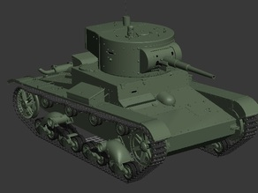 The T-26 is a Soviet light infantry tank