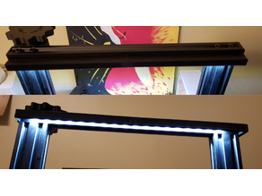 Ender3 LED Light Rail 10mm with Diffusion Light Shield