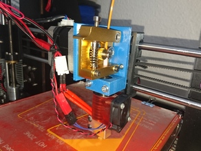 Prusa i3 mount for MK8 extruder and an E3D hotend
