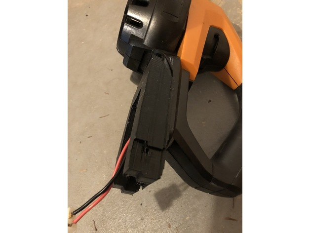 Worx 20v battery adapter by blandman512 - Thingiverse
