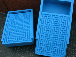 Box with Decorative Mazes