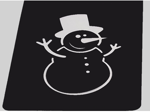 Xmas stencil - Pochoir de Noël - Snowman